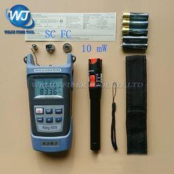 2 en 1 FTTH fibra óptica Kit de herramientas King-60S medidor de potencia óptica-70 a 10dBm y 10 MW localizador Visual de fallos de fibra óptica pluma prueba