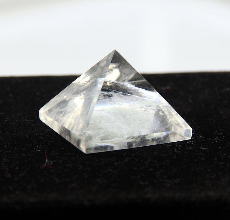 2015 cristal blanc clair quartz roche gravée 30mm pyramide point pilier sculpté pierre Chakra pierres guérison Reiki livraison gratuite