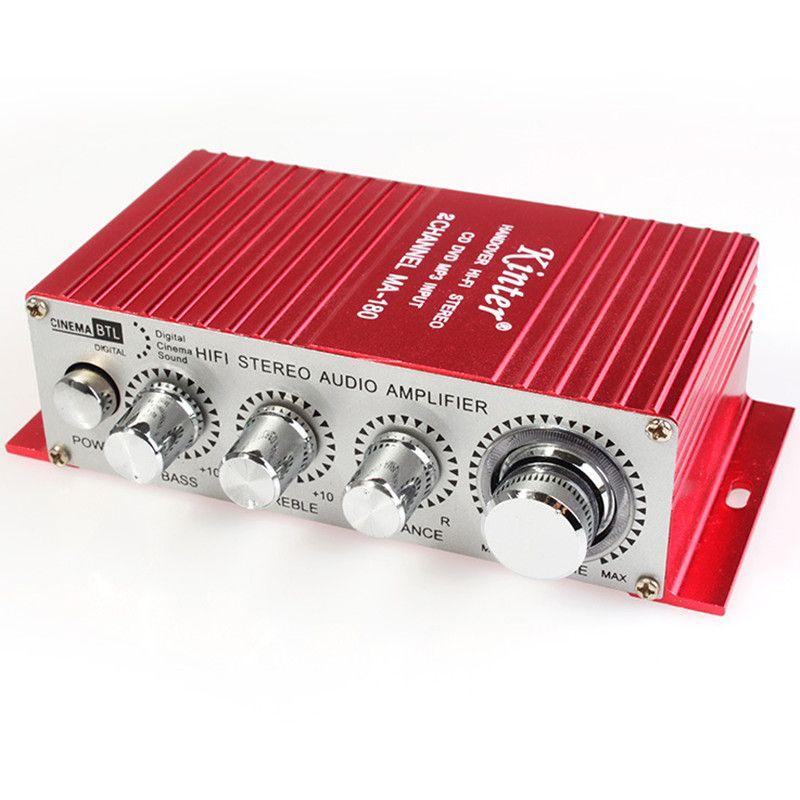 Kinter 12 В 2ch передача hi-fi стерео Усилители домашние USB Mini Digital Audio сабвуфер Мощность Усилители домашние для автомобиля мотоцикла лодка mA -180