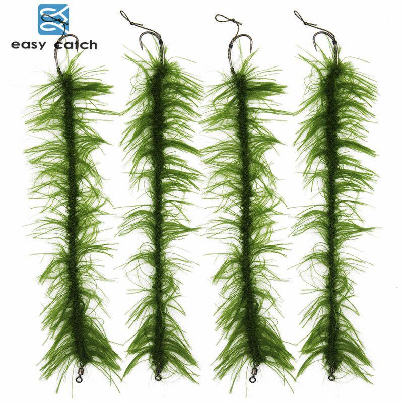 8 pièces/ensemble mauvaises herbes carpe pêche cheveux Rigs fil tressé barbe pêche crochet chaudrons carpe pêche leurre accessoires