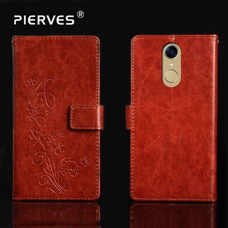 Pierves Luxury Flip PU Leather  Wallet Cover Phone Case  For Cubot Note Plus