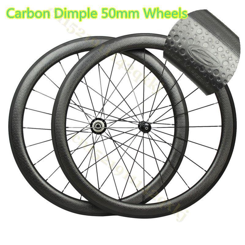 Dimple 303 404 808 25mm wide Rims 45/50/58/80mm depth carbon dimpled wheels 20-24 holes 700c road bicycle carbon wheels