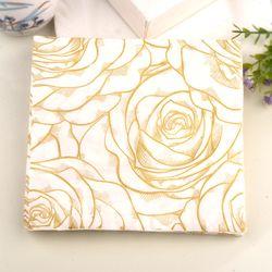 Nuevo oro rosa flores papel servilletas café & Party Tissue servilletas Decoupage decoración papel 33 cm * 33 cm 20 unids/pack/lot