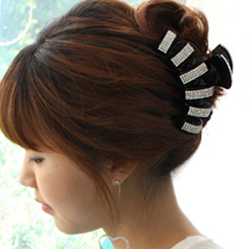 Grand Luxe Acrylique Plein Cristal Griffe De Cheveux Strass Saisir Clip Pour Femmes Coréenne Accessoires De Mode Bijoux Filles Chapeaux