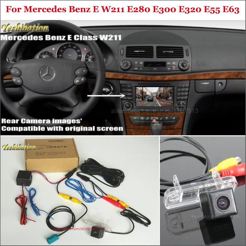 Back Up Reverse Camera For Mercedes Benz E W211 E280 E300 E320 E55 E63 - Car Rear View Camera Sets RCA & Original Screen