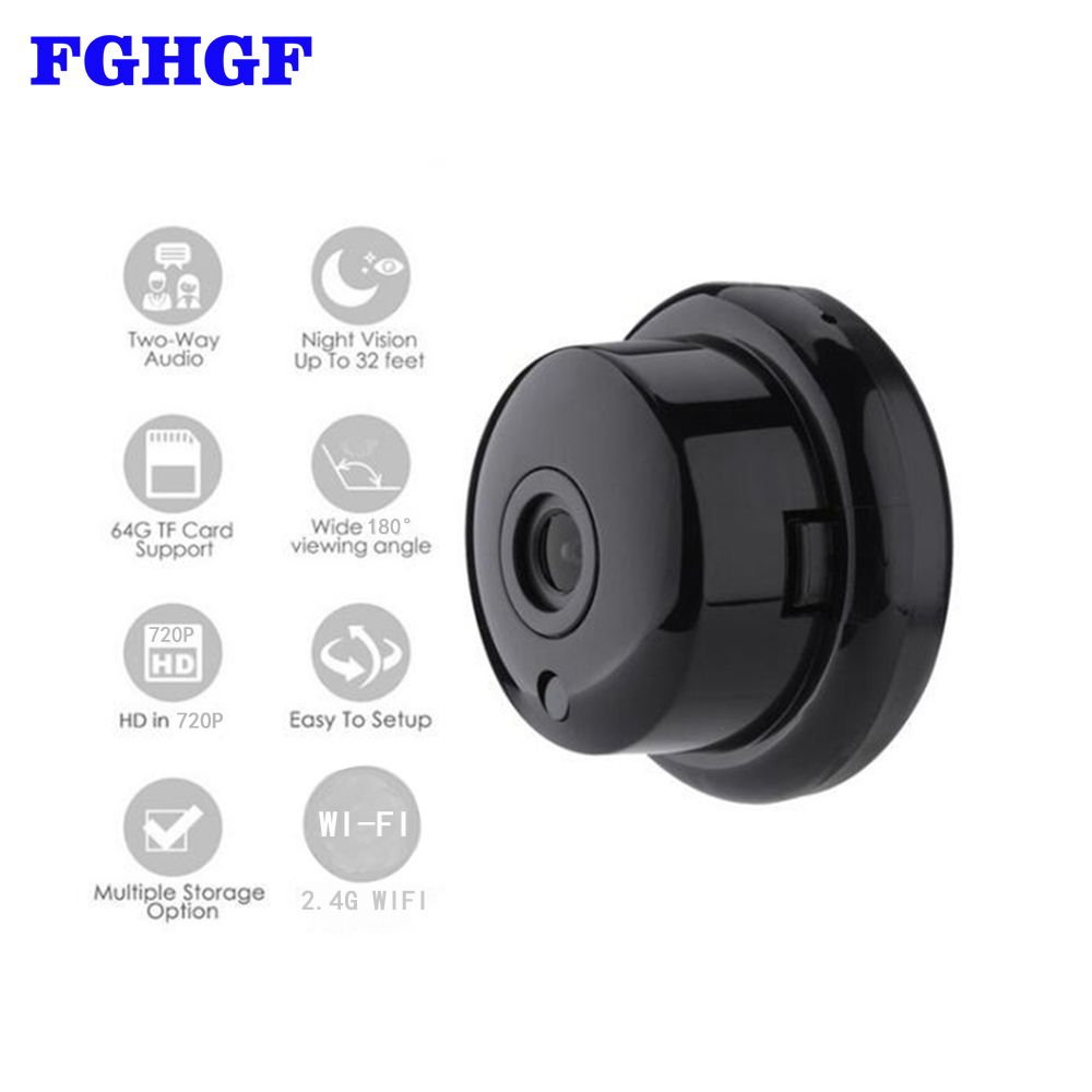 FGHGF 720P Wireless Mini Camera 2.4G Wifi Camera Support Mobile View Motion Detector And Alarm Camera Wifi Up to 64G App YOOSEE