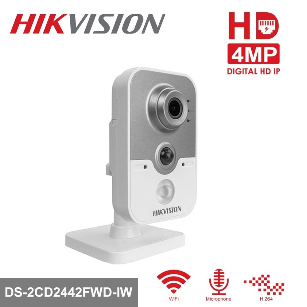 Hikvision Wireless Security IP Camera DS-2CD2442FWD-IW 4MP CMOS WiFi IR-Cut Night Version CCTV Camera Two-Way Audio SD Card