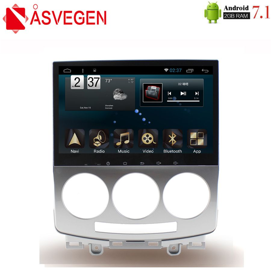 Asvegen For Old Mazda 5 2005-2010 Car Radio Audio DVD Player 9'' HD Android 7.1 Quad Core GPS Navigation WIFI Multimedia Player