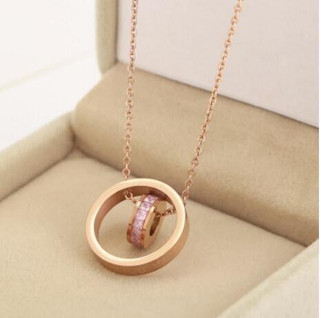 CAN006 2 ожерелье без камень любви ожерелье с коробкой
