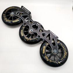 Gratis Pengiriman Sepatu Roda Bingkai 243 Mm 231 MM Bat Bingkai dengan Roda 3X110