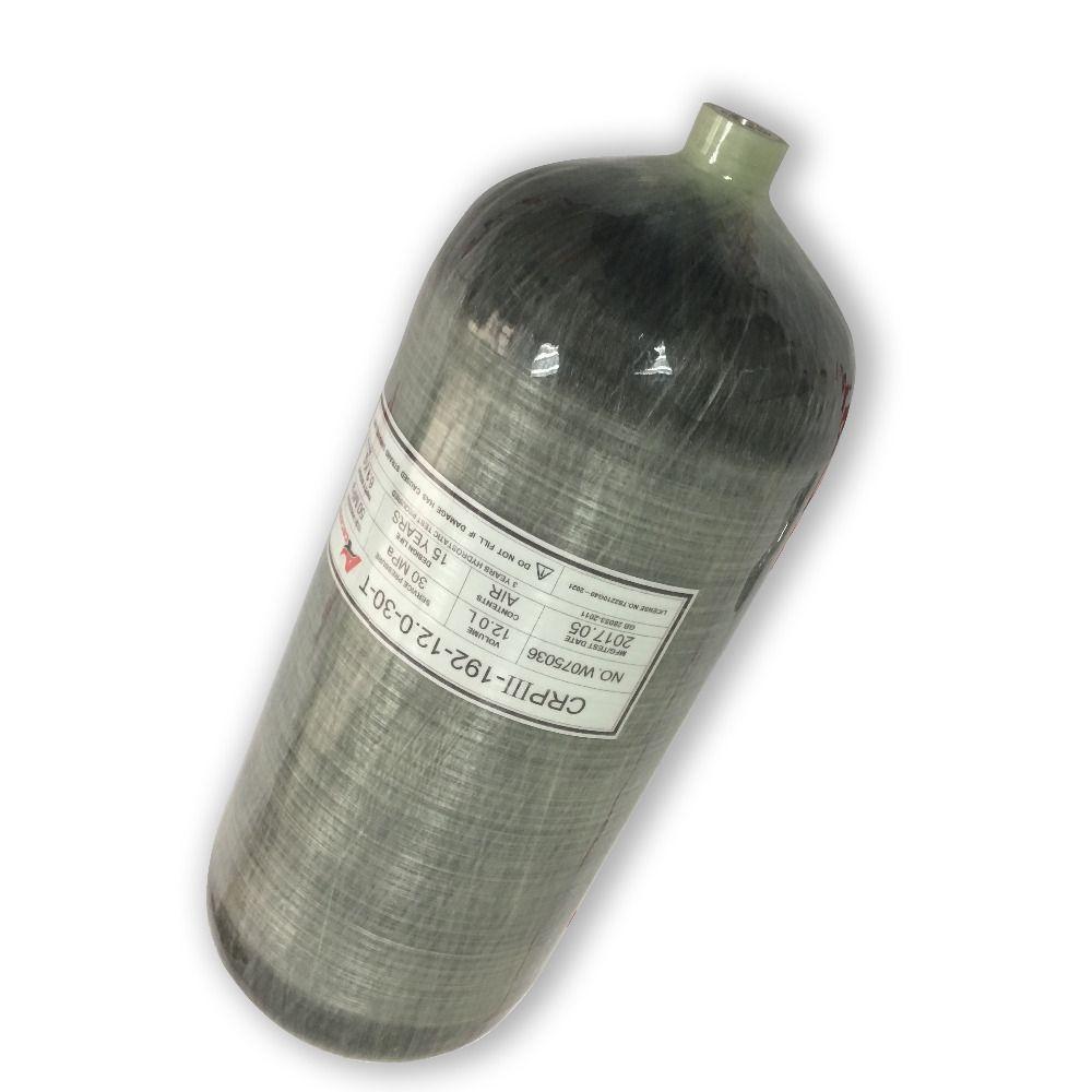 New 12LGB 300bar4500psi Carbon Fiber Mini Scuba Cylinder PCP Gun/Pcp Air Rifle/Air Softgun/Paintball Tank/Diving AcecareAC3120-S