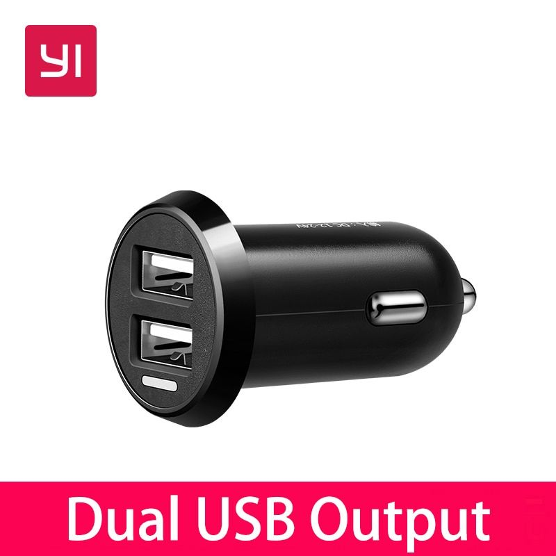 YI Smart Dual-port Auto Charger Dual USB Output Fast Charge Car Charger