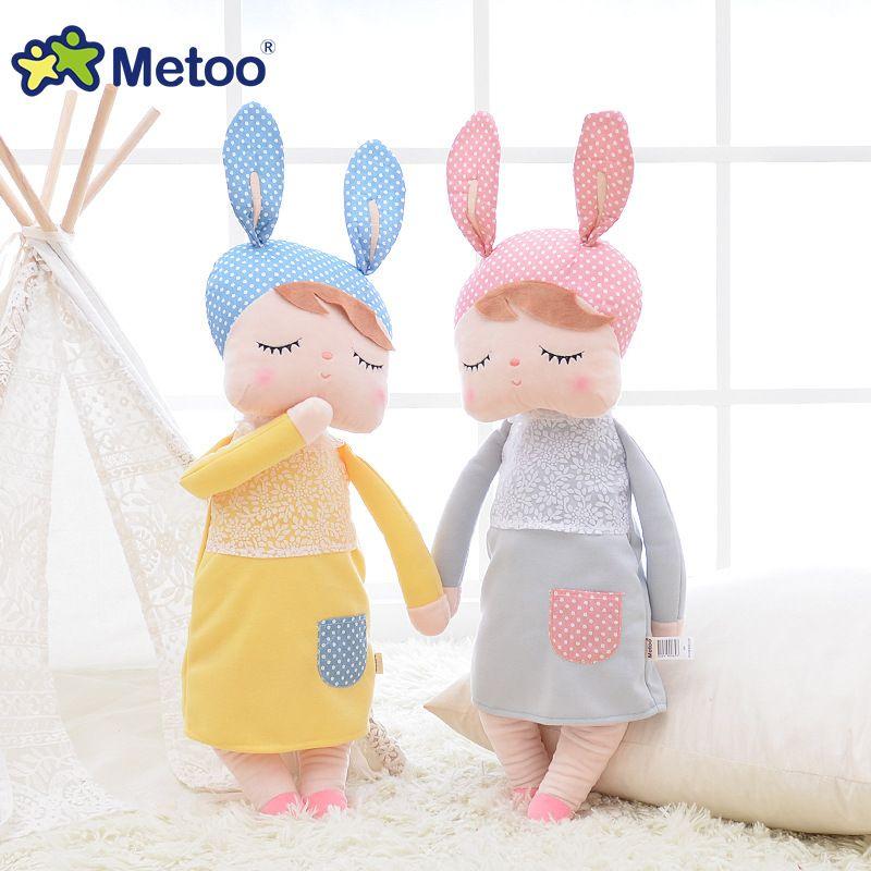 13 pouces peluche Animal en peluche dessin animé enfants jouets pour filles enfants bébé anniversaire cadeau de noël Kawaii Angela lapin Metoo poupée