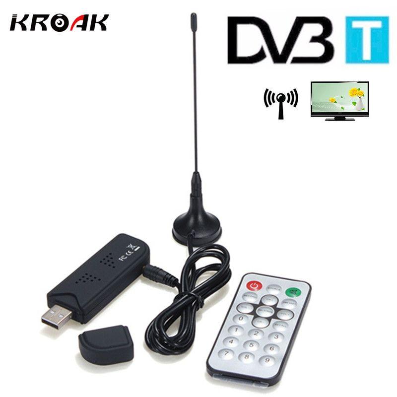 USB2.0 Digital DVB-T HDTV TV Tuner Recorder Receiver Stick RTL-SDR+DAB+FM R820T Black