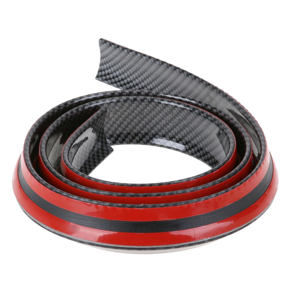 1.5M Car Bumper Strip Carbon Fiber Rubber Rear Spoiler Wing 40mm <font><b>Width</b></font> Universal Exterior Rear Spoiler Kit Decorate Car-styling