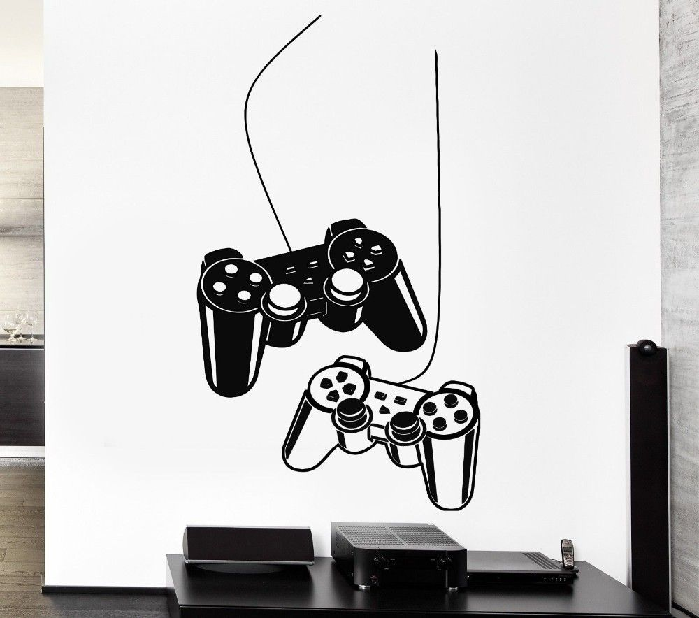 YOYOYU Joystick Wall Sticker Gamer Video Play Vinyl Decal Art Mural Poster Home Decoration House Bedroom Playroom Decor Y-209