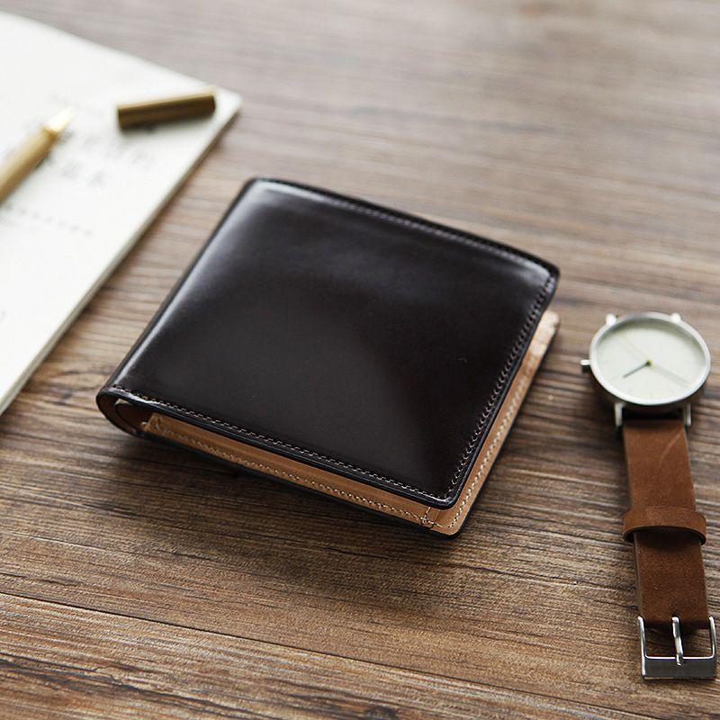 LANSPACE männer crup leder brieftasche handarbeit kurzen handtasche marke hohe qualität brieftasche