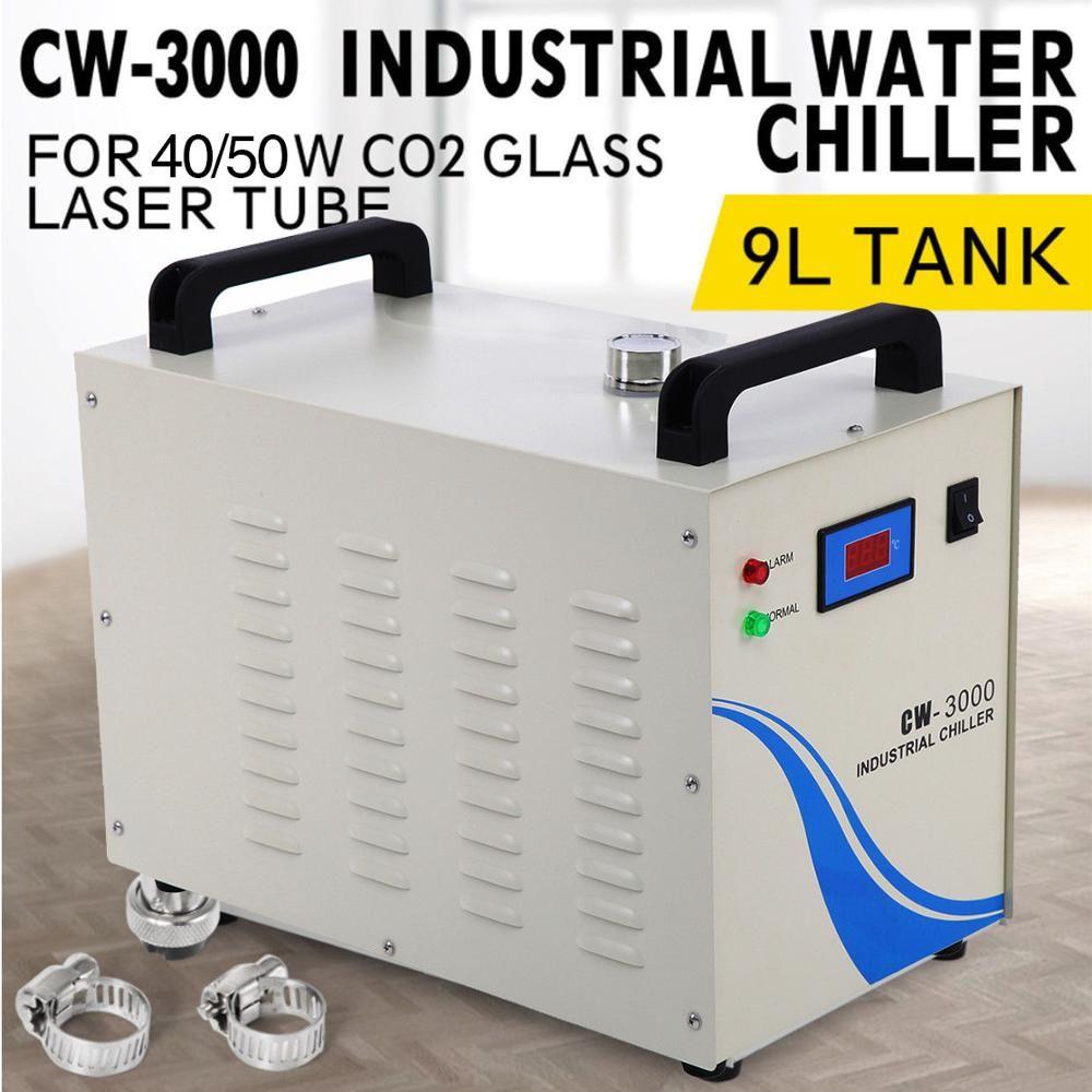 (Schiff von EU) CW-3000 Industrielle Wasserkühler Kühler 40 W/50 W Co2 Glas Laser Röhre Laser Stecher
