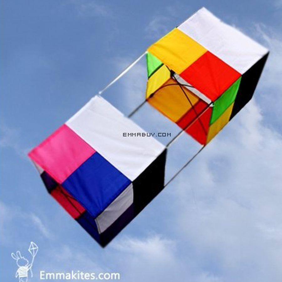 3D boîte cerf-volant 85 cm ligne unique cerf-volant pour enfants adultes avec cerf-volant poignées Sport de plein air jouets amusant