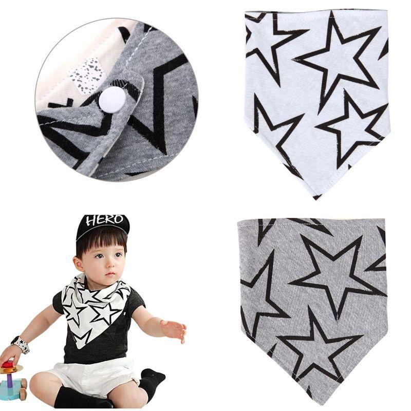 1 шт. Детские треугольные Симпатичные очень милый большая звезда нагрудники слюны Полотенца вокруг Биб