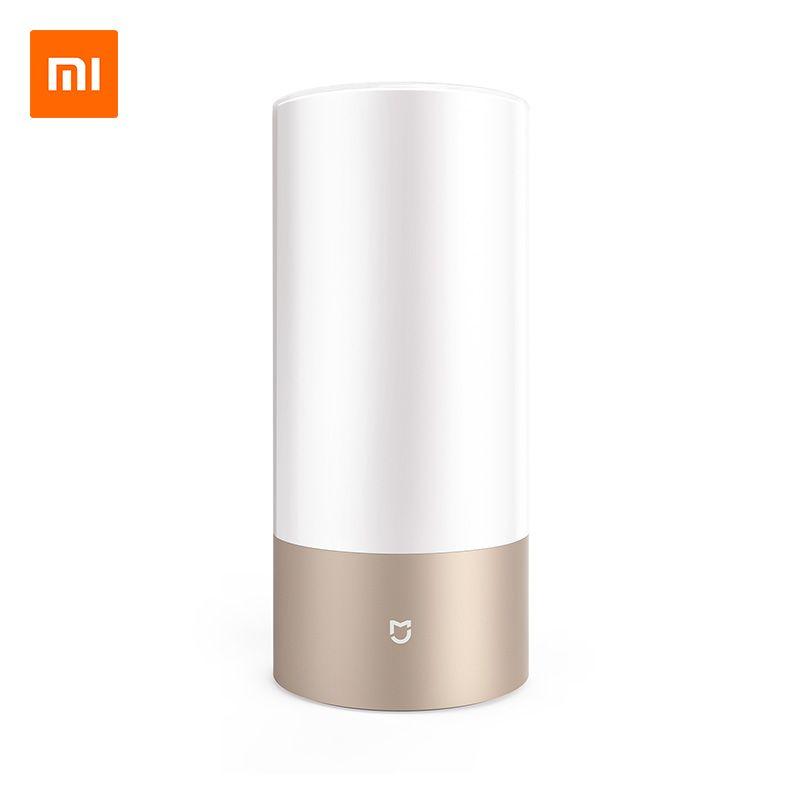 Original Xiaomi Mijia Smart Lights Indoor Bed Bedside Lamp 16 Million RGB Light Touch Control Bluetooth For Mijia Mi home APP