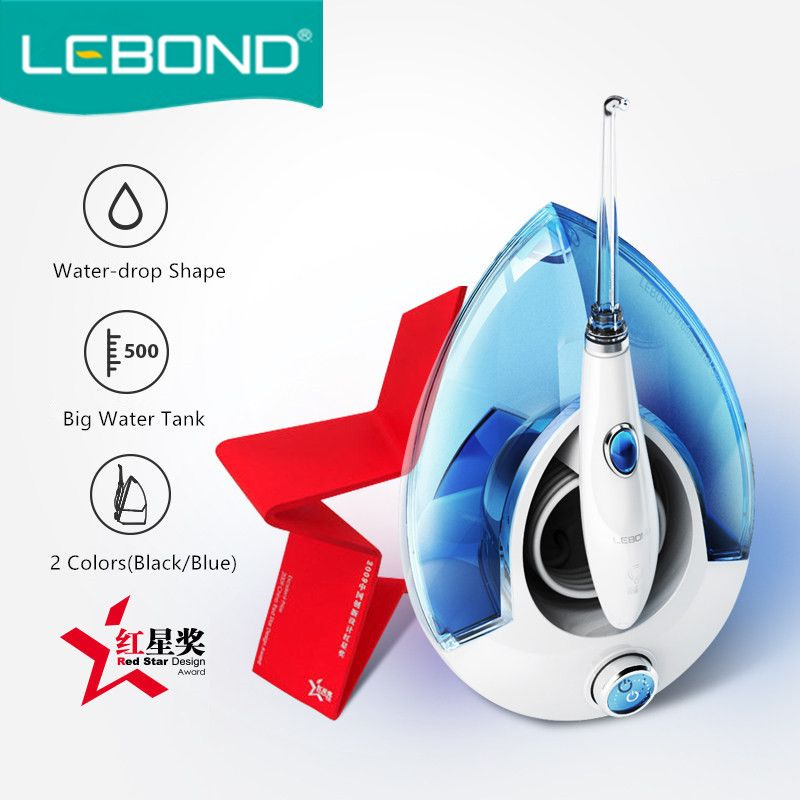 LEBOND Electric Oral Irrigator W1 Water Flosser Household 9 Levels Pressure Control With 500ml Water Tank And 5 Nozzles