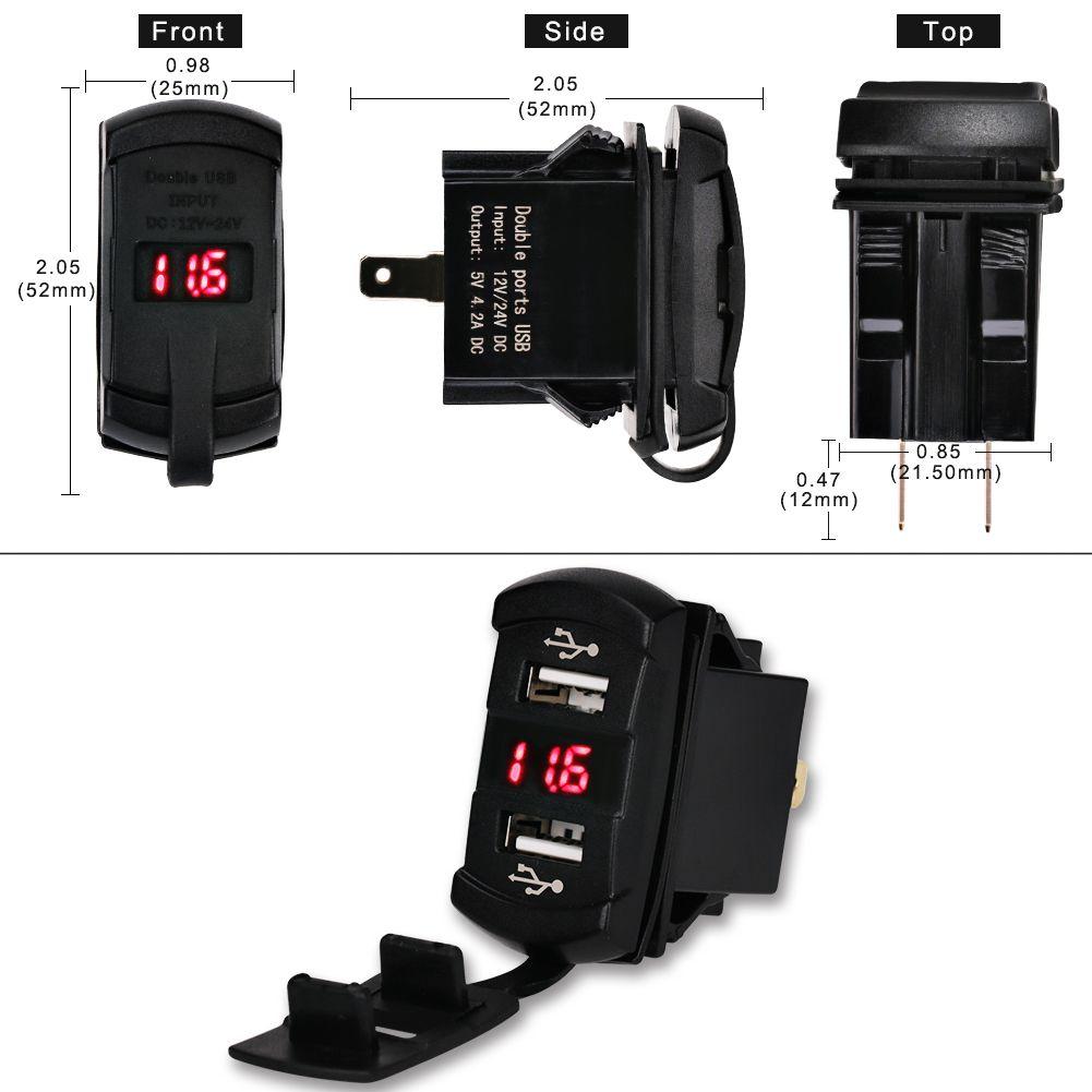 Chargeur De Voiture universel Étanche Double Port Auto Adaptateur USB Chargeur De Voiture Pour iphone 6 6 s 7 plus Xiaomi Samsung