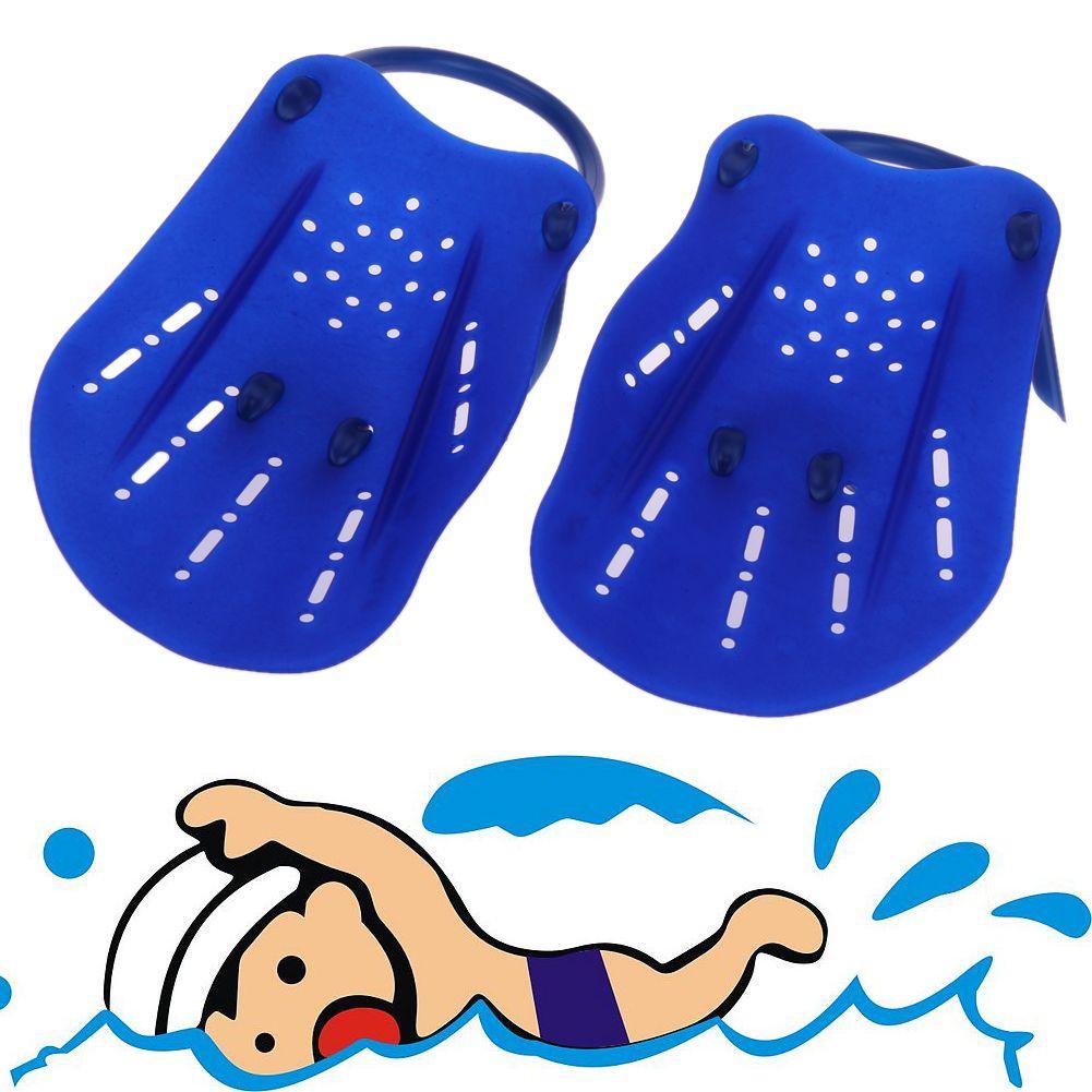 Unisex 2 stücke Schwimmen Paddelflossen Utility Gepaart Webbed Tauchen Handschuhe Webbed Ausbildung Pool Tauchen schuhe für schwimmen