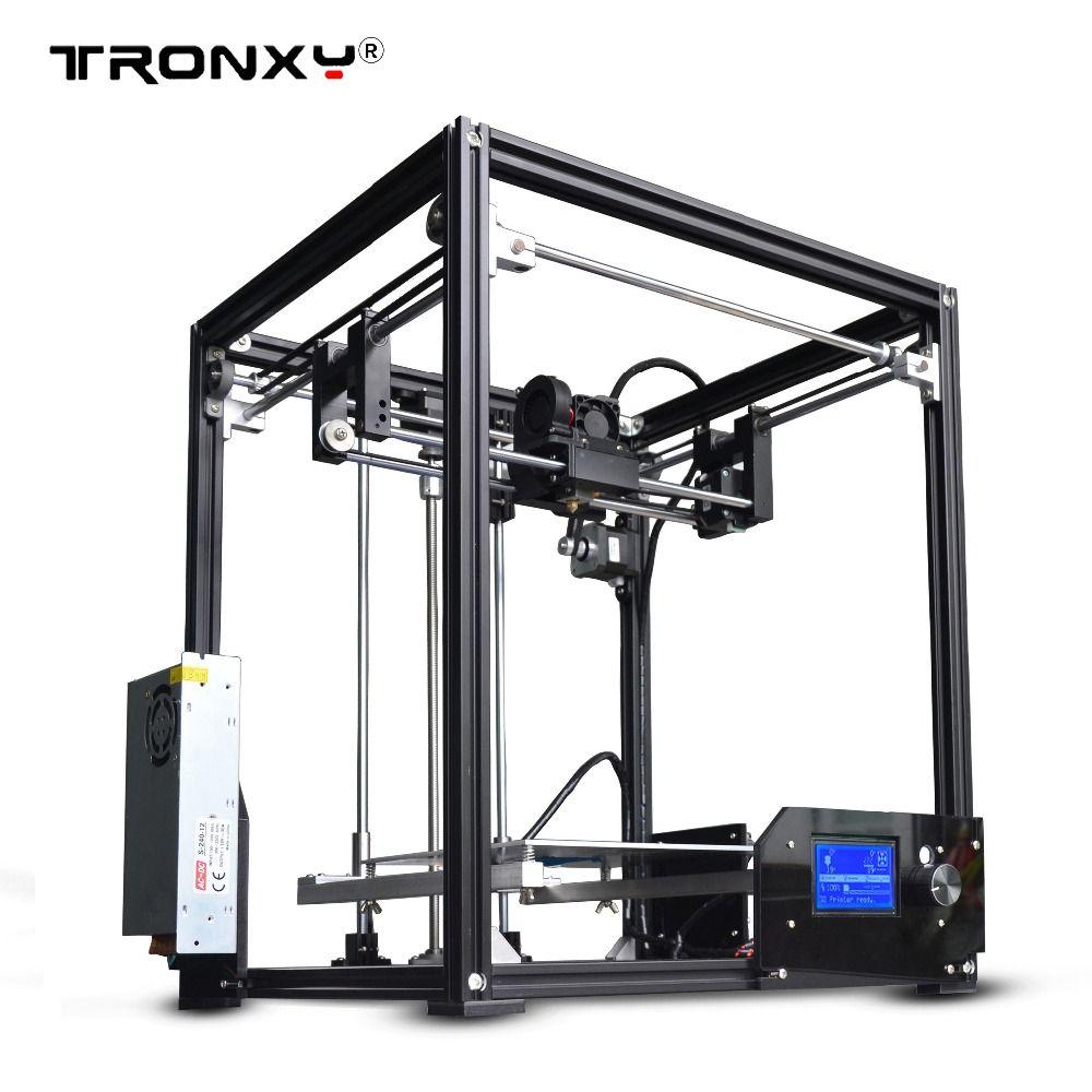 2017 neue upgarded Aluminium cube 3D Drucker Kits Tronxy X5 Volle Metall Extrusion hohe präzision 12864 p LCD große druck größe