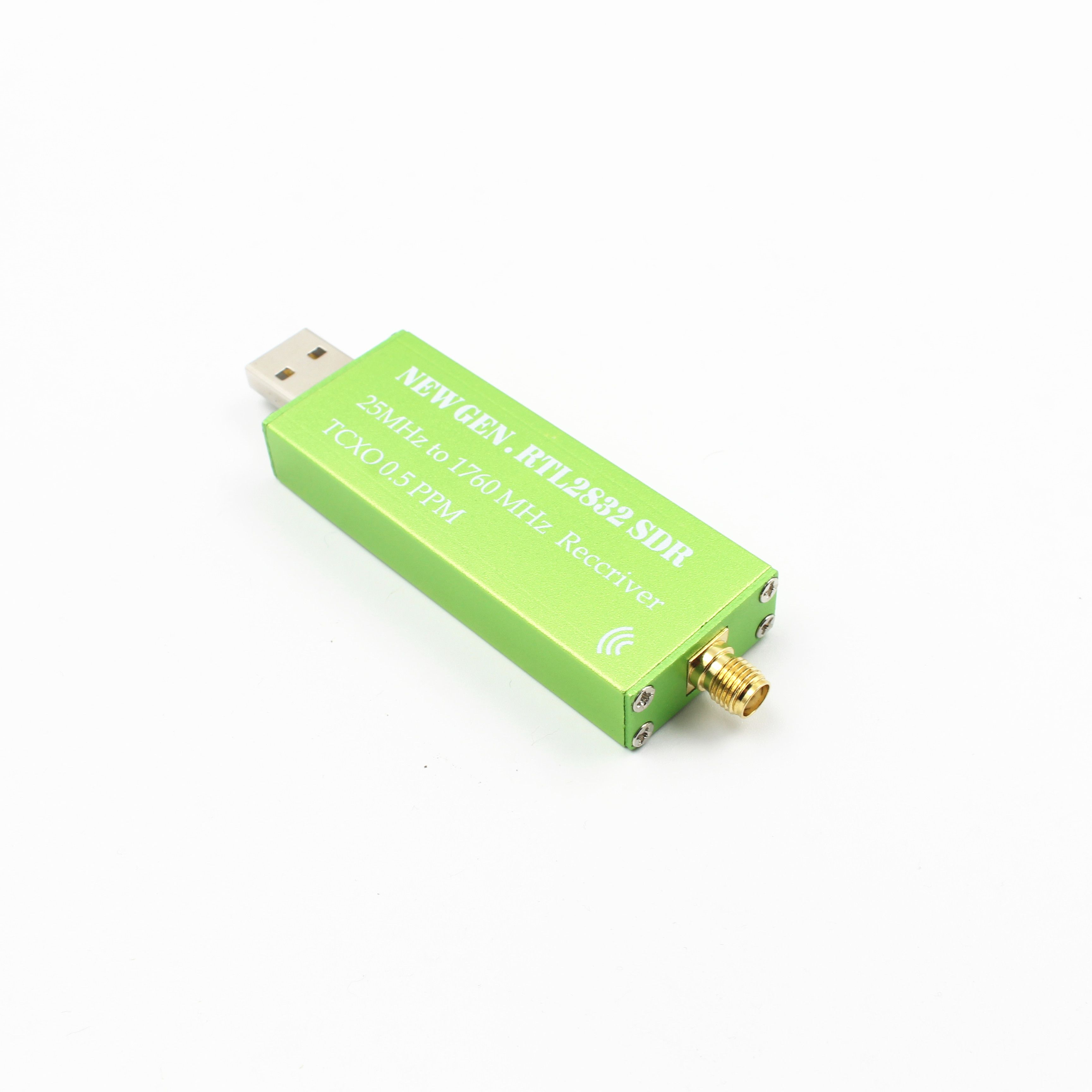 Premium USB RTL-SDR w/ 0.5PPM TCXO, Metal Case, SMA. R820T2 RTL2832U