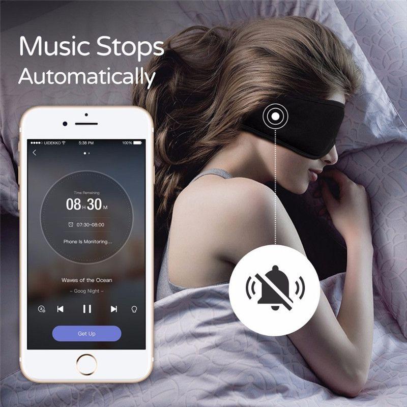 Écouteurs de sommeil endormi confortable lavable masque pour les yeux application intelligente blocage du son suppression du bruit écouteurs télécommande