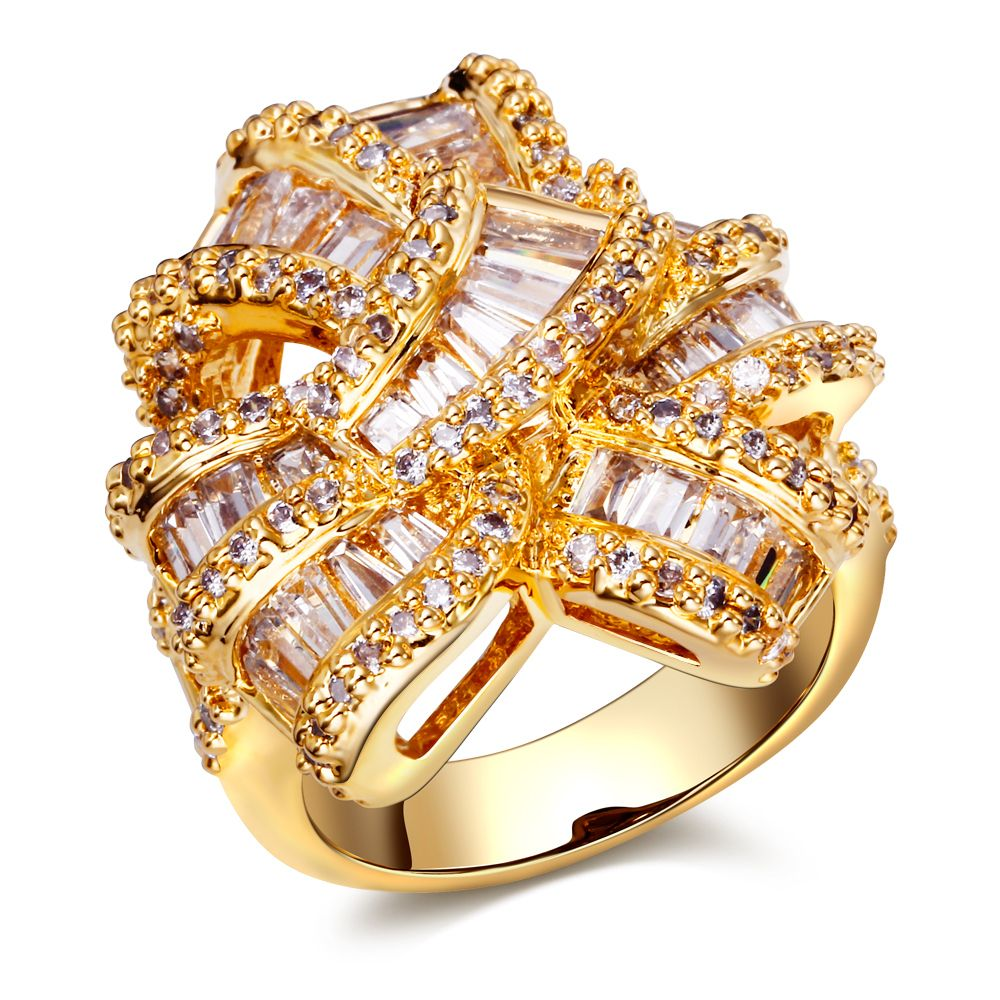 Fashion jewelry big Rings w/ cubic zircon finger Ring high quality party rings for women free shipment