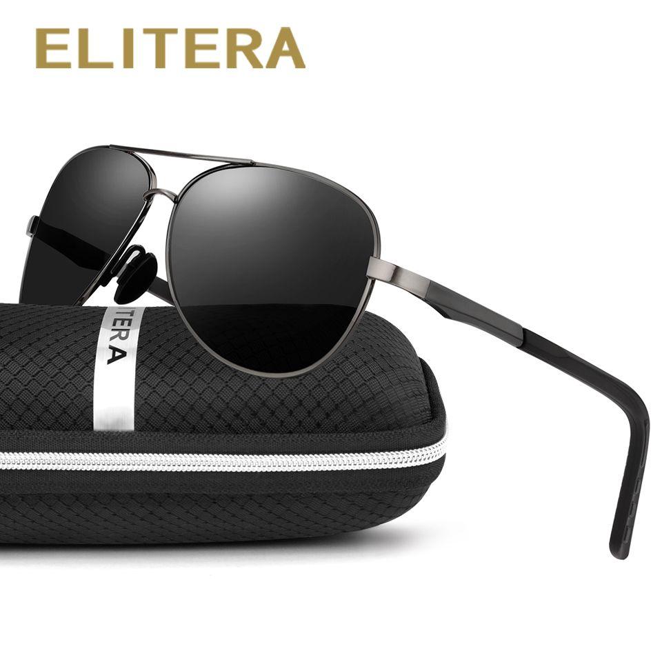 ELITERA En Aluminium Magnésium Marque Polarisées lunettes de Soleil Hommes Nouvelle Conception De Pêche Conduite Lunettes de Soleil Lunettes Oculos Gafas De Si E210