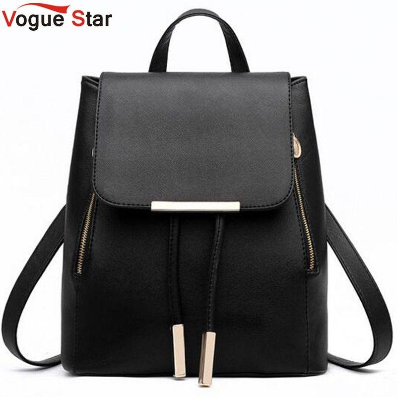 Vogue Star Fashion women backpack school backpacks for teenage girls women leather backpack school bags mochila LS135