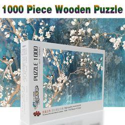 Bunga Magnolia 520/1000/1500 pieces kayu Jigsaw puzzle dewasa anak mainan dekorasi rumah collectiable Dekorasi Perakitan