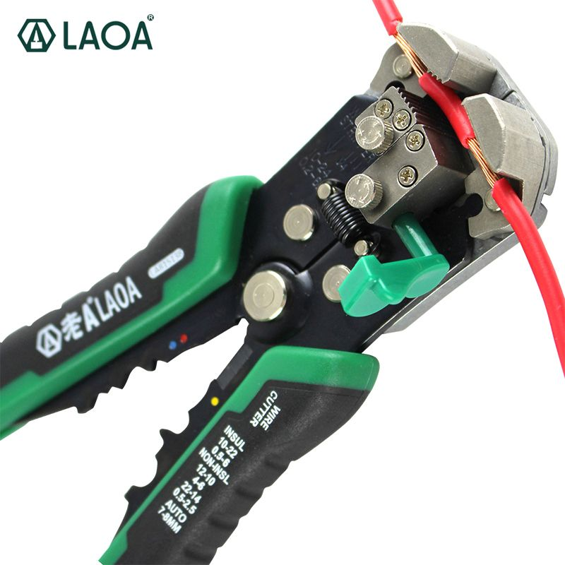 LAOA <font><b>Automatic</b></font> Wire Stripper Tools Professional Electrical Cable stripping Tools For Electrician Crimpping Made in Taiwan