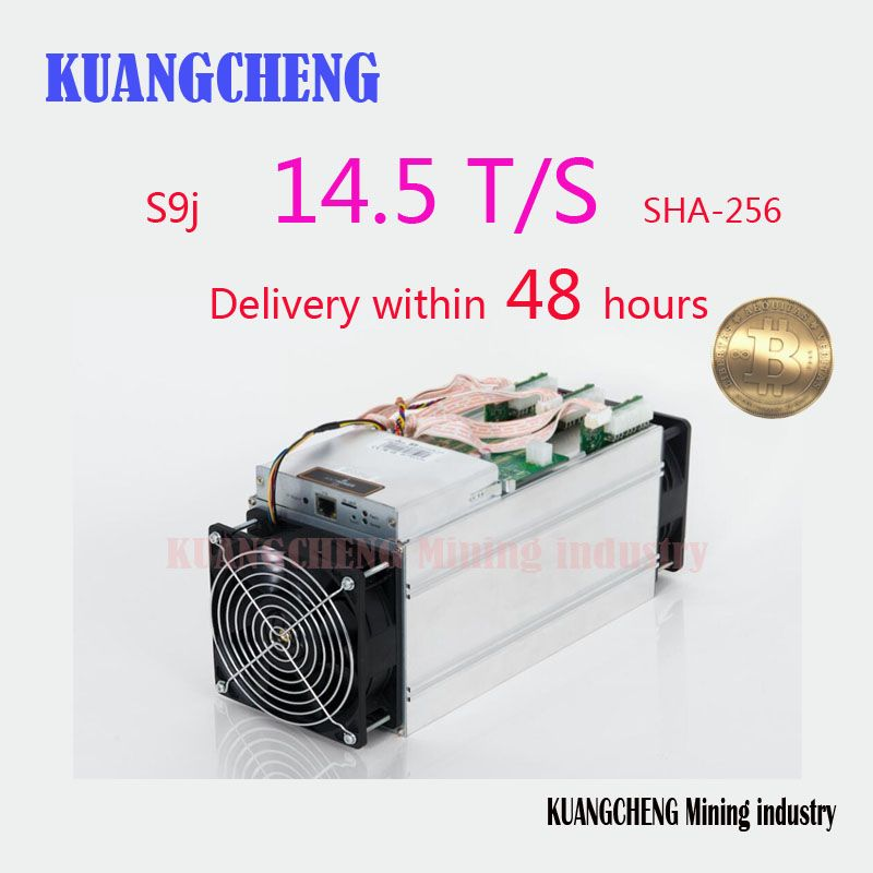 KUANGCHENG Bergbau BITMAIN antminer S9j 14,5 t mit NETZTEIL Bitcoin Miner Asic S9 14 t 13 t Miner Arbeit BCC btc pcc sha256 16nm Btc Miner