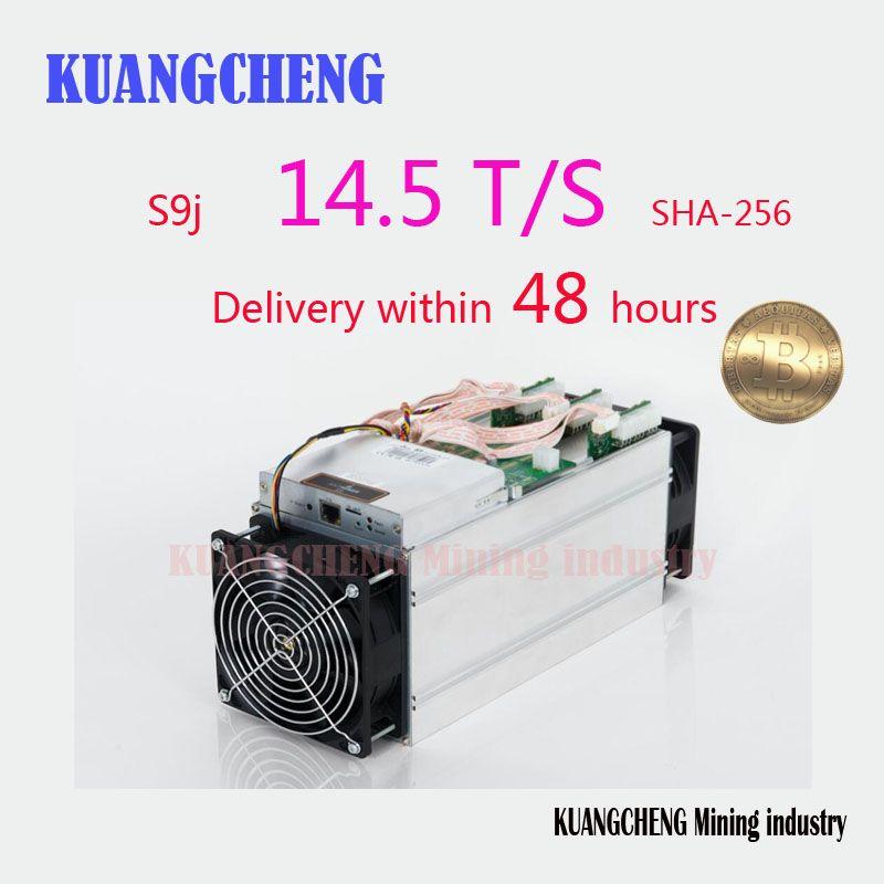 KUANGCHENG Mining BITMAIN antminer S9 14.5T with PSU Bitcoin Miner Asic S9 14T 13T Miner Work BCC btc pcc sha256 16nm Btc Miner