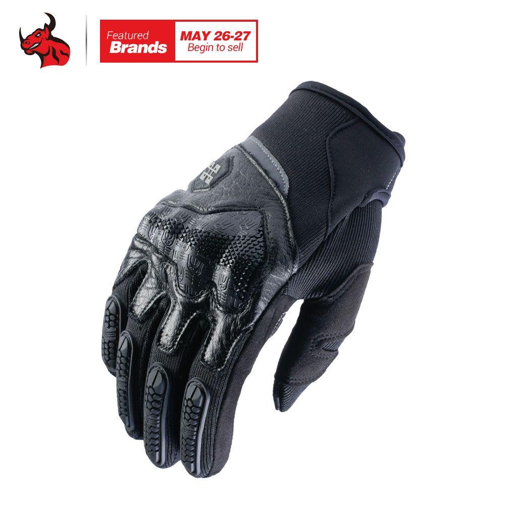XUEYU Motorrad Handschuhe Motocross Handschuhe Männer Frauen Off-Road Motorrad Vollfinger Touch Screen Handschuhe Luvas Schwarz