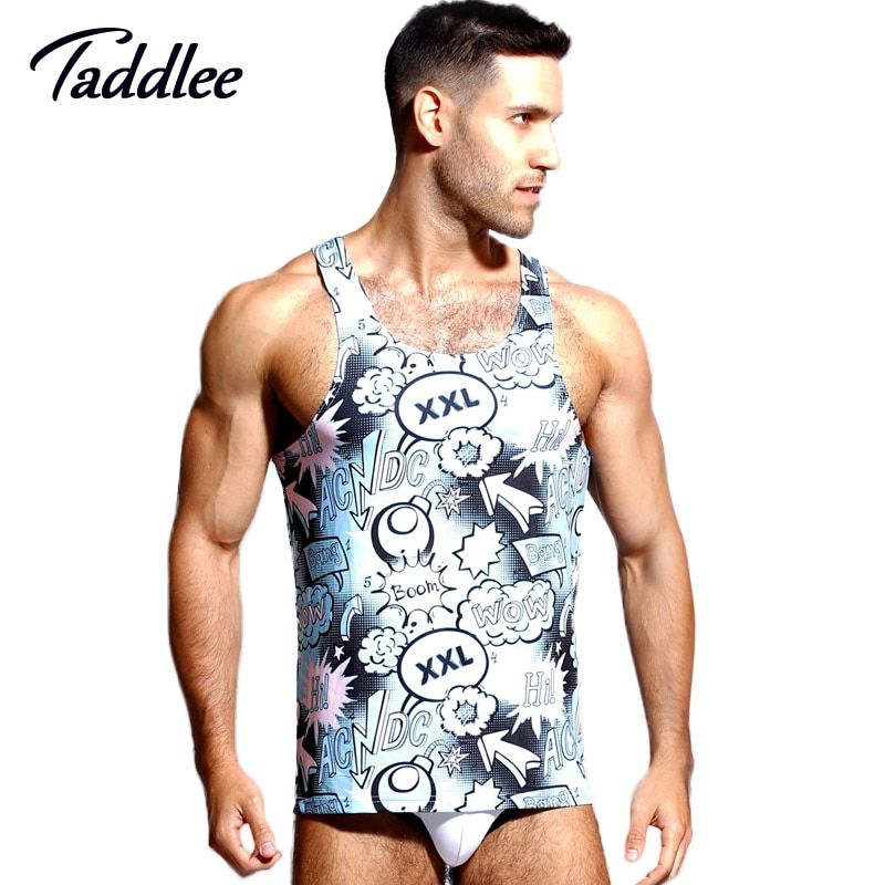 Taddlee Brand New Men's Tank Top Shirts Tees Undershirts Sleeveless Singlets Stringers Vest Fitness Gym Muscle Basketball