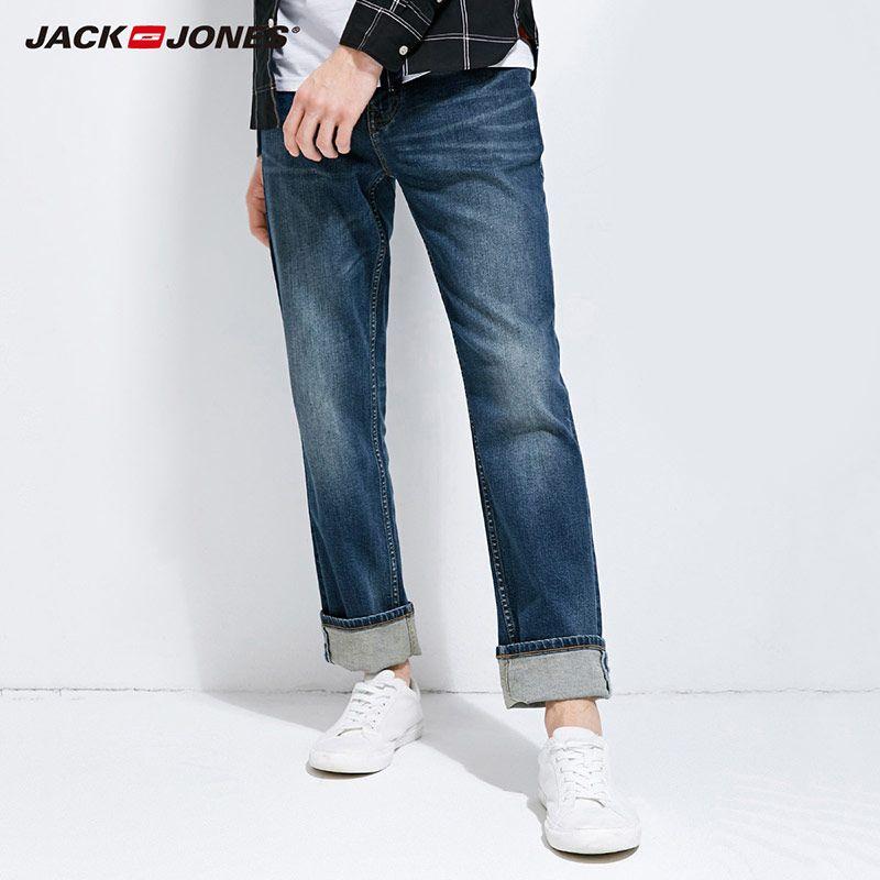 JackJones 2018 Brand New Men's Lycra&Cotton Oversize Loose Fit Stretch Jeans Pants Denim Trousers Men's Biker Fashion 218132571