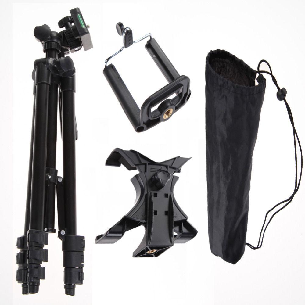 Камера Штатив Профессиональный фотографический Камера штатив стенд держатель для iPhone iPad Samsung Galaxy + настольный/pc держатель сумка