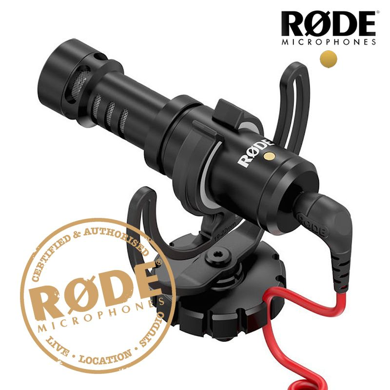 Original Rode VideoMicro Recording Microphone Interview Microfone with Deadcat for Canon Nikon DSLR Camera for iPhone Smooth Q