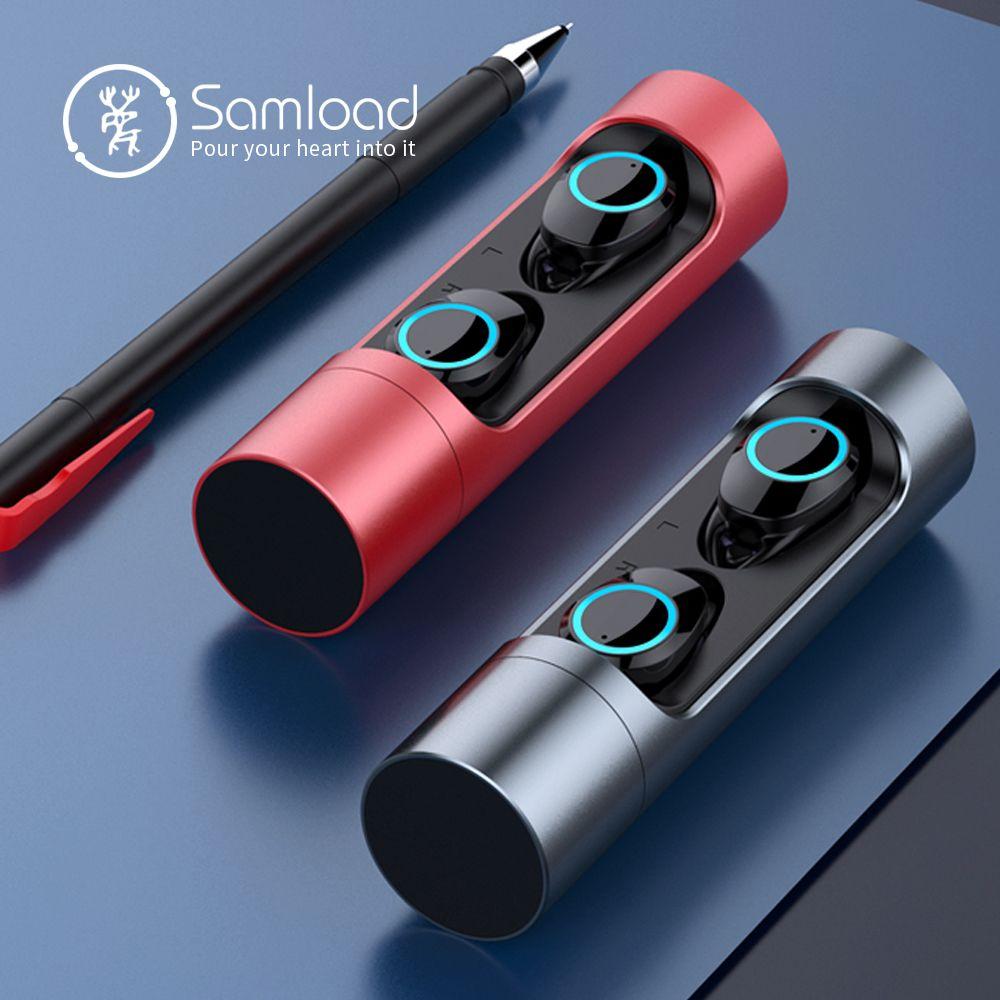 Samload Bluetooth 5.0 Sans Fil Écouteurs Deep écouteurs spécis basses casque étanche avec Boîte De Charge Pour Apple iPhone 6 7 8 X Sony