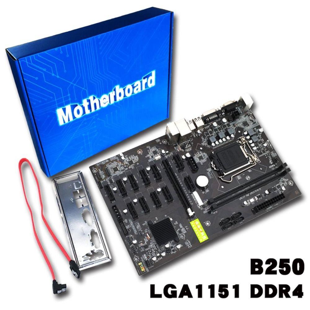 Conseil d'extraction B250 D'expert Minier Carte Mère Carte Vidéo Interface Prend En Charge GTX1050TI 1060TI Conçu Pour Crypto Minière