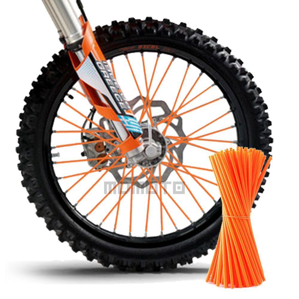 Motocross SPOKE SKINS Wheel RIM SPOKE SHROUDS COVERS for KAWASAKI yamaha YZF R3 Suzuki Ducati Dirt Bike ktm DUKE 250 t max 530
