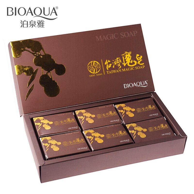 6 pc/lot Formosa jabón hecho a mano jabón natural jabón de limpieza limpia acusan aceite negro lavado de cara regalo producto SBC004