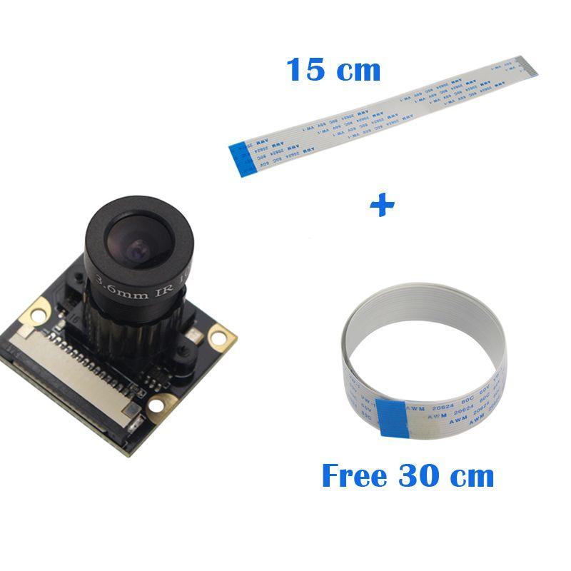 5 Mégapixels Raspberry Pi Nuit Vision Caméra Réglable-focus Capteur OV5647 Raspberry Pi 3 Caméra + Livraison 30 CM FFC Pour RPI 2