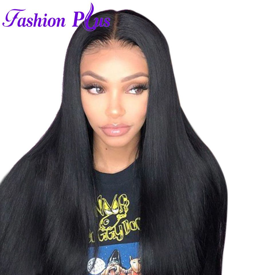 Full Lace Human Hair Wigs With Baby Hair Brazilian Virgin Hair Wigs For Black Women Lace Wig Human Hair Wigs Straight 12''-28''
