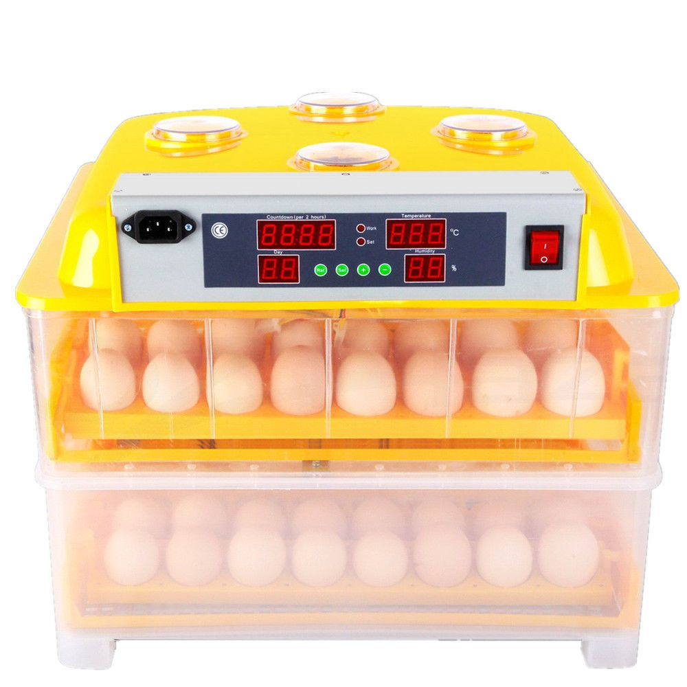 Home/Industrial Use Mini Automatic Egg Incubator 96 Egg Chicken Duck Incubator Brooder Poultry Incubator Machines